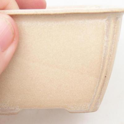Keramische Bonsai-Schale 8,8 x 8,5 x 5 cm, beige Farbe - 2