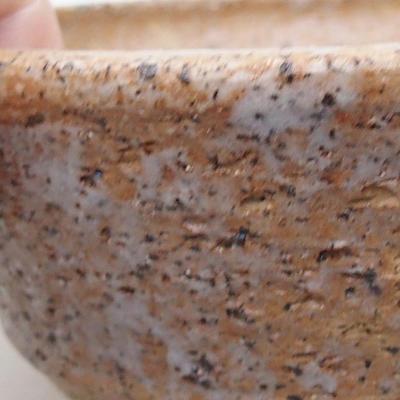 Keramische Bonsai-Schale 14,5 x 14,5 x 5 cm, braune Farbe - 2