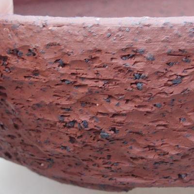 Keramische Bonsai-Schale 17 x 17 x 5,5 cm, graue Farbe - 2