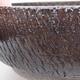 Keramische Bonsai-Schale 18 x 18 x 6 cm, Farbe braun - 2/4