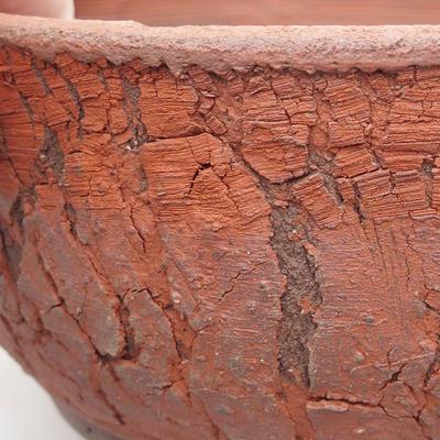 Keramische Bonsai-Schale 15 x 15 x 7 cm, graue Farbe - 2