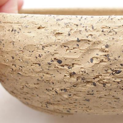 Keramische Bonsai-Schale 15,5 x 15,5 x 5,5 cm, graue Farbe - 2