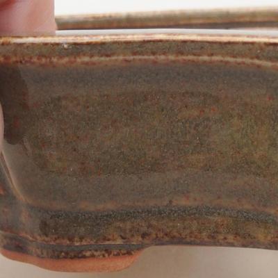 Keramische Bonsai-Schale 14 x 10 x 4,5 cm, Farbe grün - 2