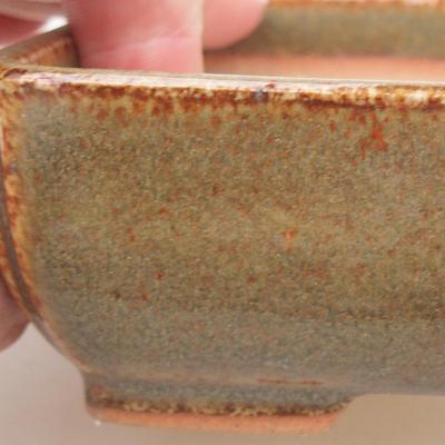 Keramik Bonsai Schüssel 13 x 10 x 4 cm, Farbe grün - 2