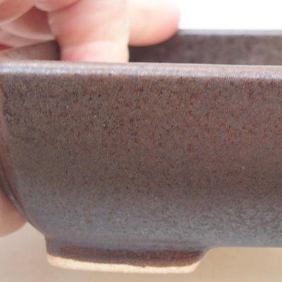 Keramik Bonsai Schüssel 13 x 10 x 4 cm, braune Farbe - 2
