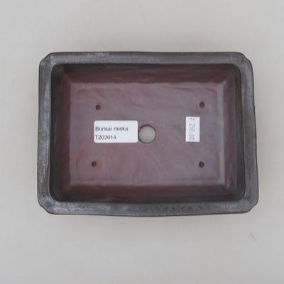 Keramische Bonsai-Schale 17 x 12,5 x 4 cm, Farbe grün - 2