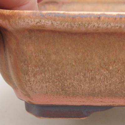 Keramische Bonsai-Schale 16,5 x 13 x 5 cm, Farbe rosa - 2