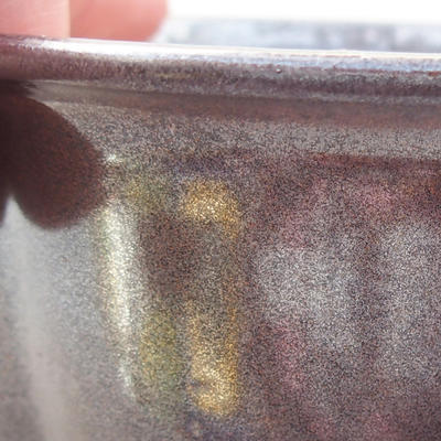 Keramik Bonsai Schüssel 13 x 11 x 5 cm, braune Farbe - 2