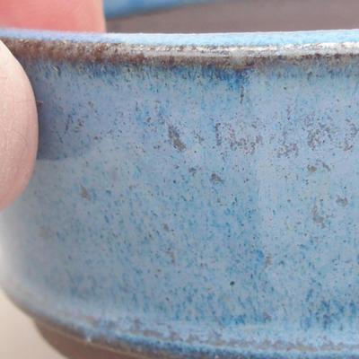 Keramische Bonsai-Schale 9 x 9 x 3,5 cm, Farbe blau - 2