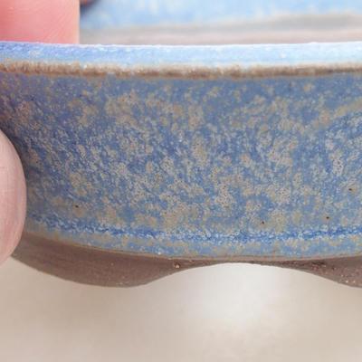 Keramische Bonsai-Schale 9 x 9 x 2,5 cm, Farbe blau - 2