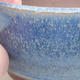 Keramische Bonsai-Schale 9 x 9 x 4 cm, Farbe blau - 2/4