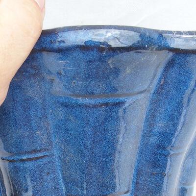 Bonsaischale 29 x 29 x 13 cm, Farbe blau - 2