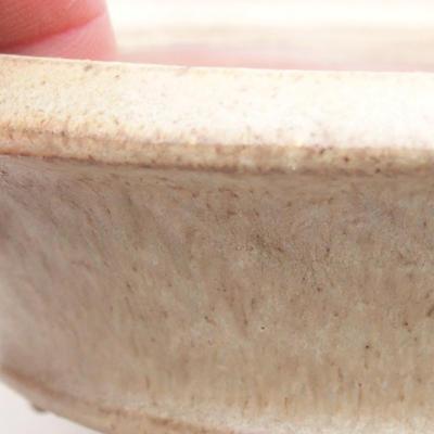 Keramische Bonsai-Schale 11,5 x 11,5 x 3,5 cm, beige Farbe - 2