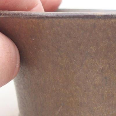 Keramische Bonsai-Schale 10,5 x 10,5 x 5 cm, braune Farbe - 2