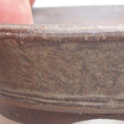 Keramische Bonsai-Schale 9 x 9 x 2 cm, braune Farbe - 2