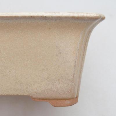 Bonsai-Keramikschale 18 x 14 x 7 cm, beige Farbe - 2