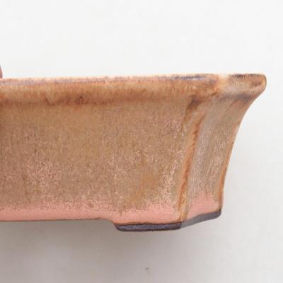 Keramik Bonsai Schüssel 13 x 10,5 x 4 cm, Farbe rosa - 2