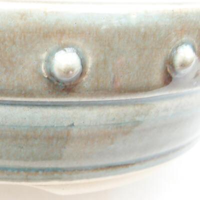 Keramische Bonsai-Schale 18 x 18 x 6 cm, Farbe grün - 2