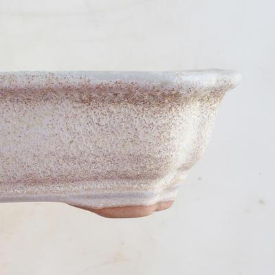 Keramische Bonsai-Schale 16 x 12,5 x 4,5 cm, beige Farbe - 2