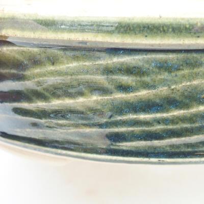 Keramische Bonsai-Schale 19,5 x 19,5 x 5 cm, Farbe grün - 2