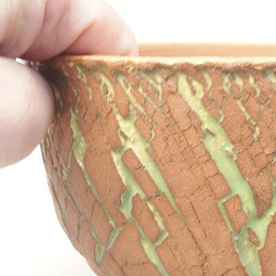 Keramik Bonsai Schüssel 14 x 14 x 8,5 cm, Farbe rissig - 2