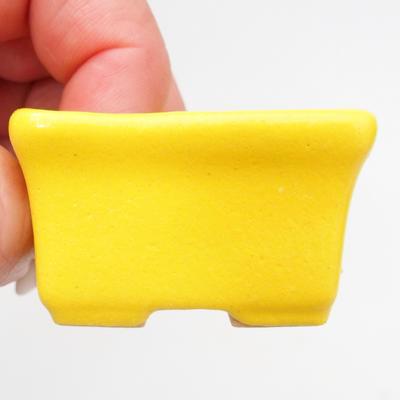 Mini Bonsai Schüssel 4,5 x 3,5 x 2,5 cm, gelbe Farbe - 2