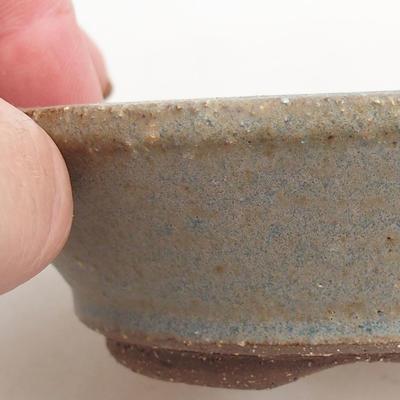 Keramik Bonsaischale 10 x 10 x 2,5 cm, Farbe grün - 2