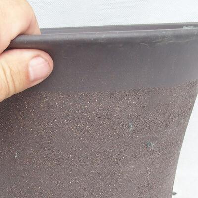 Bonsaischale 25 x 25 x 22 cm, graue Farbe - 2