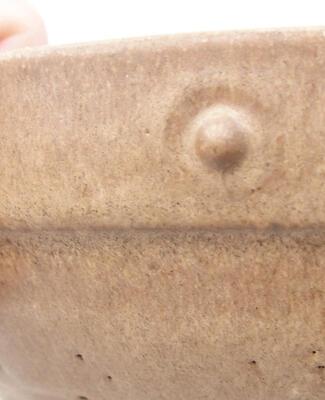 Keramische Bonsai-Schale 20 x 20 x 5,5 cm, braune Farbe - 2