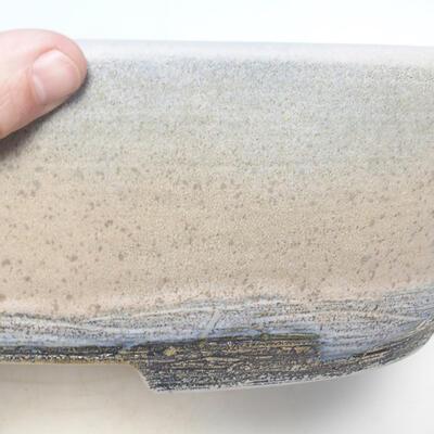 Bonsai-Schale 41,5 x 32,5 x 11 cm, grau-beige Farbe - 2