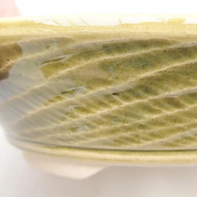 Keramische Bonsai-Schale 15,5 x 15,5 x 4,5 cm, Farbe grün - 2