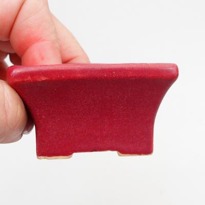 Mini-Bonsaischale 5,5 x 4 x 3 cm, Farbe rot - 2