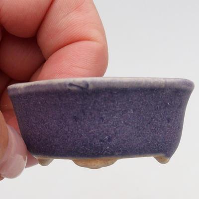 Mini-Bonsaischale 4,5 x 4 x 2 cm, Farbe violett - 2