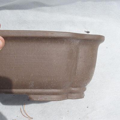 Bonsaischale 25 x 20 x 7,5 cm, graue Farbe - 2
