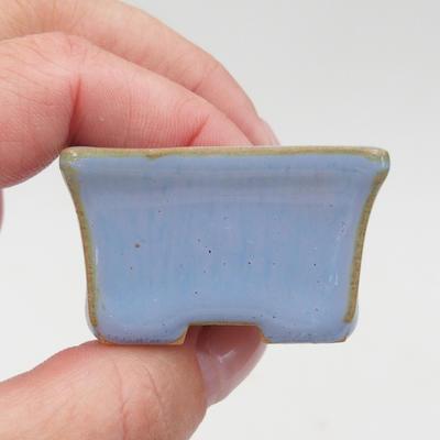 Mini-Bonsaischale 4 x 3 x 2,5 cm, Farbe blau - 2