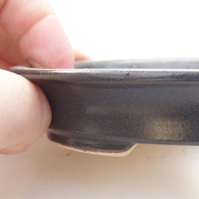 Keramik Bonsai Schüssel 12,5 x 10,5 x 2 cm, Metallfarbe - 2