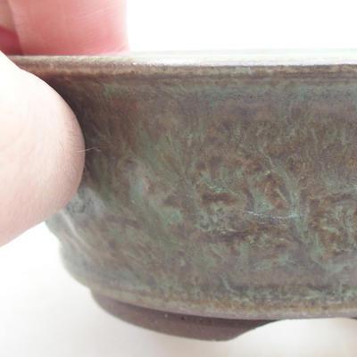 Keramik Bonsai Schüssel 11 x 11 x 4 cm, Farbe grün - 2