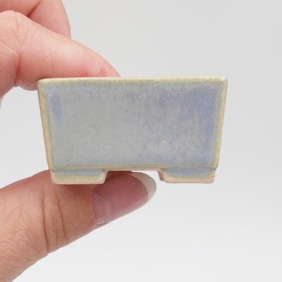 Mini-Bonsaischale 4 x 3,5 x 2 cm, Farbe blau - 2