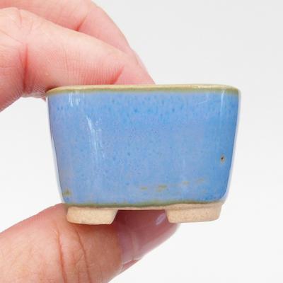 Mini-Bonsaischale 3,5 x 3,5 x 2,5 cm, Farbe blau - 2