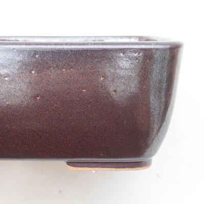 Keramische Bonsai-Schale 16 x 10 x 5,5 cm, braune Farbe - 2