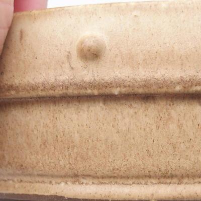 Keramik Bonsai Schüssel 18 x 18 x 5 cm, beige Farbe - 2