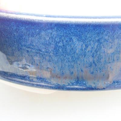 Keramische Bonsai-Schale 18 x 18 x 4,5 cm, Farbe blau - 2