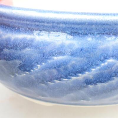 Keramische Bonsai-Schale 13,5 x 13,5 x 5,5 cm, Farbe blau - 2