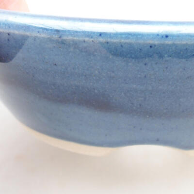 Keramische Bonsai-Schale 15 x 15 x 4,5 cm, Farbe blau - 2
