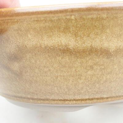 Keramische Bonsai-Schale 20 x 20 x 6,5 cm, braune Farbe - 2