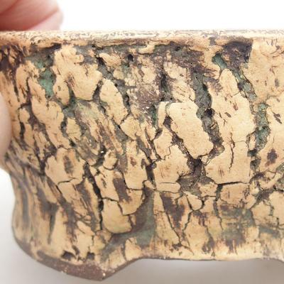 Keramische Bonsai-Schale 14 x 14 x 6 cm, Farbe grün - 2
