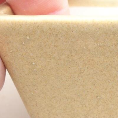 Mini Bonsai Schüssel 7 x 5,5 x 3,5 cm, beige Farbe - 2