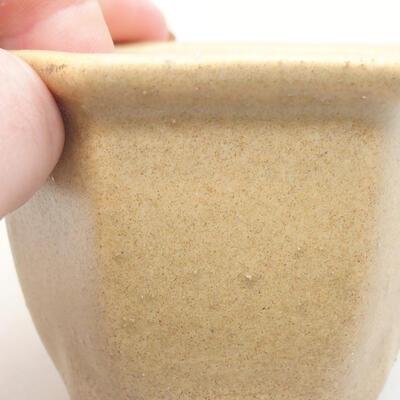 Mini Bonsai Schüssel 7 x 6 x 5 cm, beige Farbe - 2