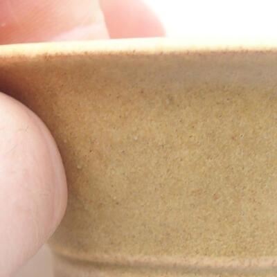 Mini Bonsai Schüssel 7 x 7 x 3 cm, beige Farbe - 2