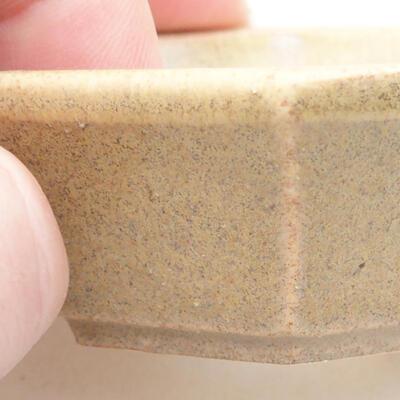 Mini Bonsai Schüssel 6 x 5 x 2 cm, beige Farbe - 2